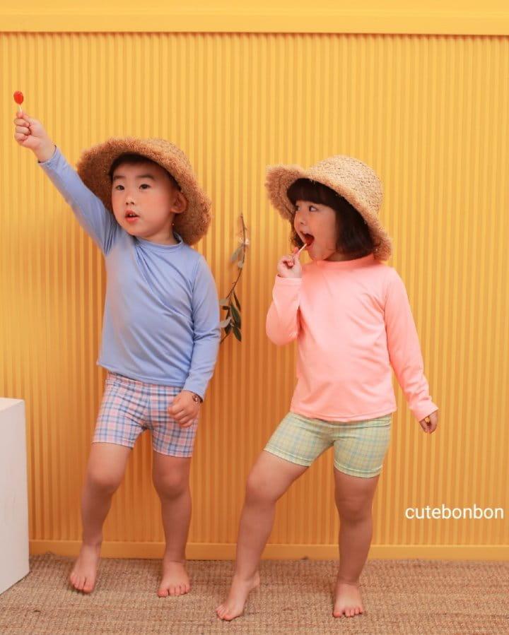 CUTEBONBON - Korean Children Fashion - #Kfashion4kids - Check Rashguard - 11