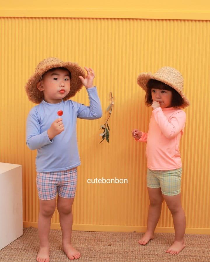 CUTEBONBON - Korean Children Fashion - #Kfashion4kids - Check Rashguard - 12
