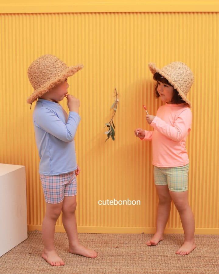 CUTEBONBON - Korean Children Fashion - #Kfashion4kids - Check Rashguard - 3