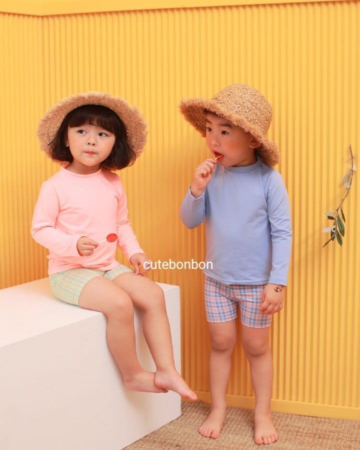 CUTEBONBON - Korean Children Fashion - #Kfashion4kids - Check Rashguard - 4