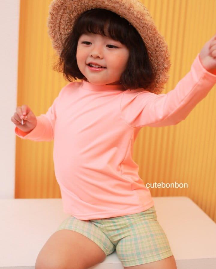 CUTEBONBON - Korean Children Fashion - #Kfashion4kids - Check Rashguard - 5