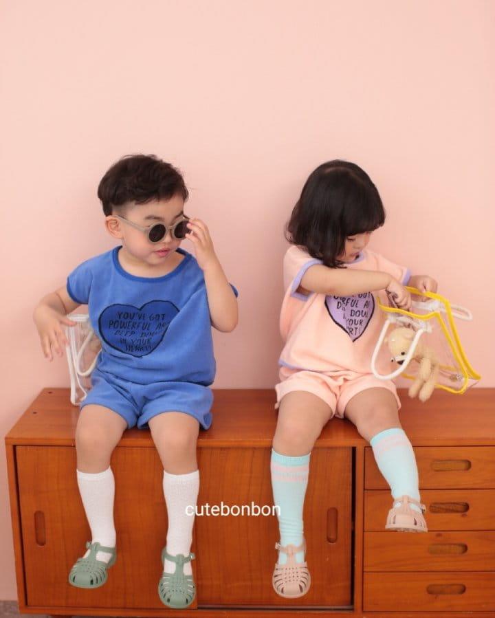 CUTEBONBON - Korean Children Fashion - #Kfashion4kids - Towel Heart Top Bottom Set - 10