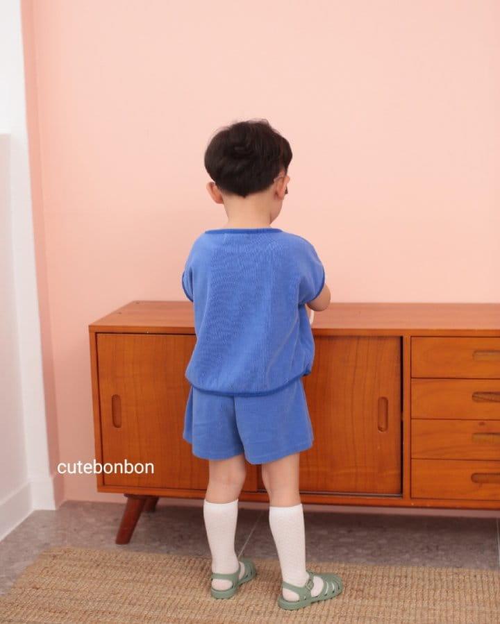 CUTEBONBON - Korean Children Fashion - #Kfashion4kids - Towel Heart Top Bottom Set - 4