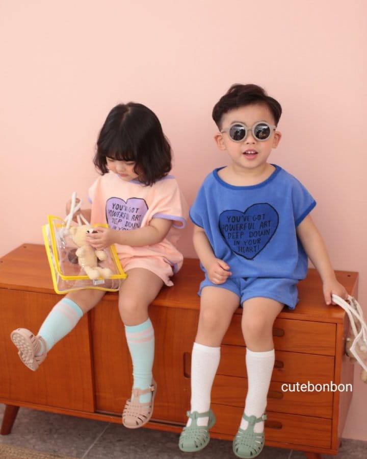 CUTEBONBON - Korean Children Fashion - #Kfashion4kids - Towel Heart Top Bottom Set - 6
