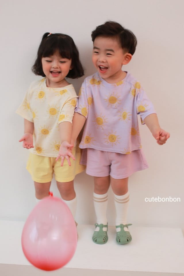 CUTEBONBON - Korean Children Fashion - #Kfashion4kids - Sunny Top Bottom Set  - 3