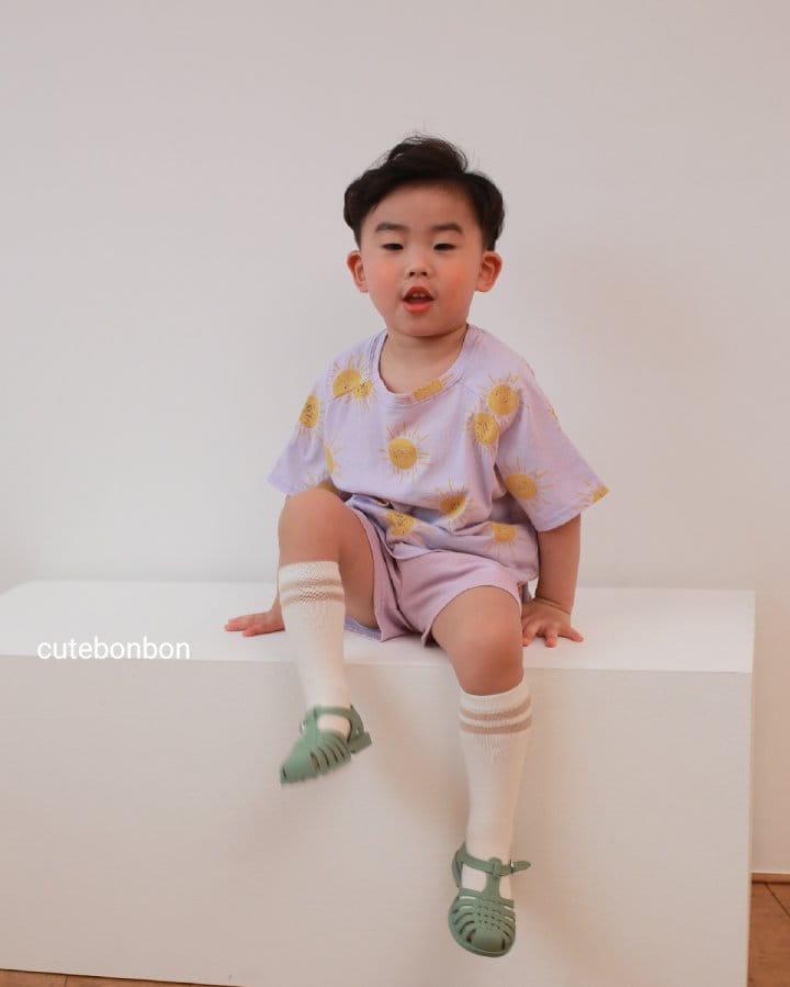 CUTEBONBON - Korean Children Fashion - #Kfashion4kids - Sunny Top Bottom Set  - 4