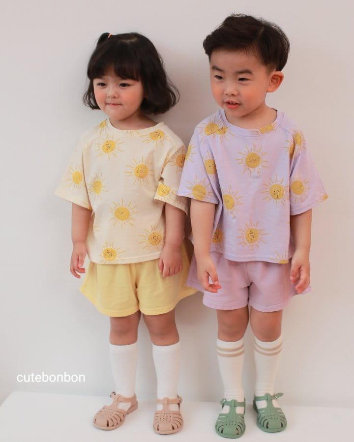 CUTEBONBON - Korean Children Fashion - #Kfashion4kids - Sunny Top Bottom Set  - 7