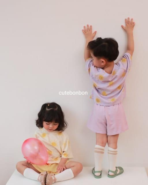 CUTEBONBON - BRAND - Korean Children Fashion - #Kfashion4kids - Sunny Top Bottom Set