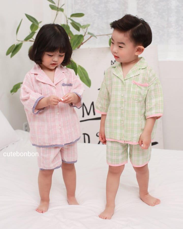 CUTEBONBON - Korean Children Fashion - #Kfashion4kids - Check 21 Pajamas - 2