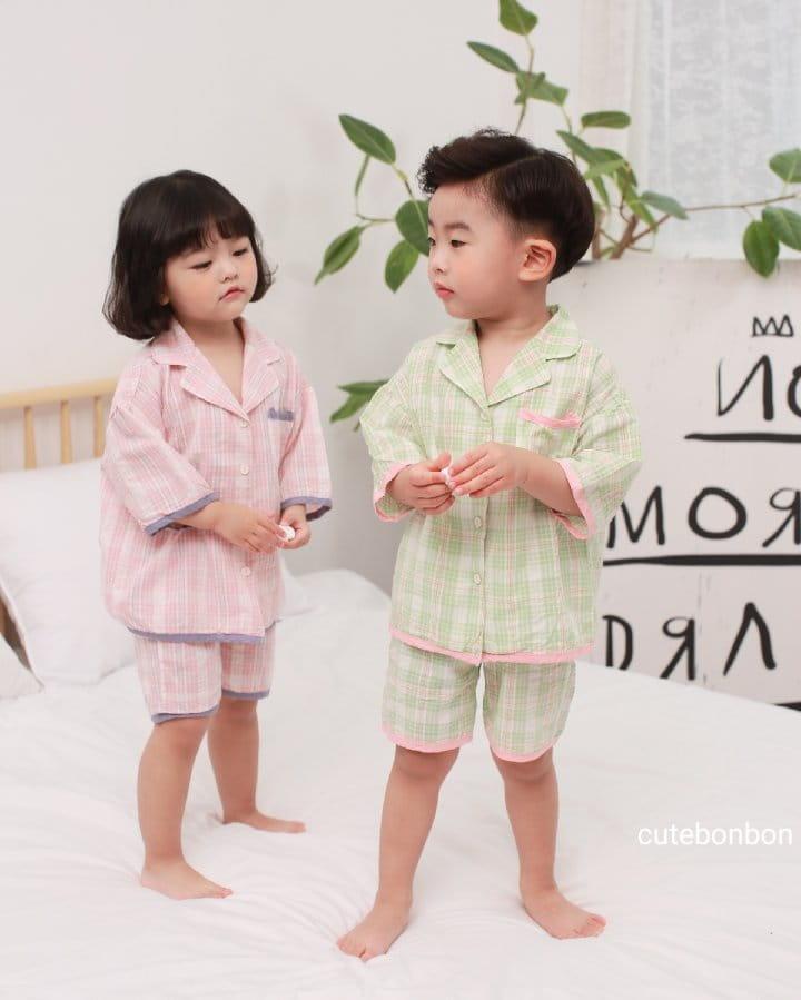 CUTEBONBON - Korean Children Fashion - #Kfashion4kids - Check 21 Pajamas - 4