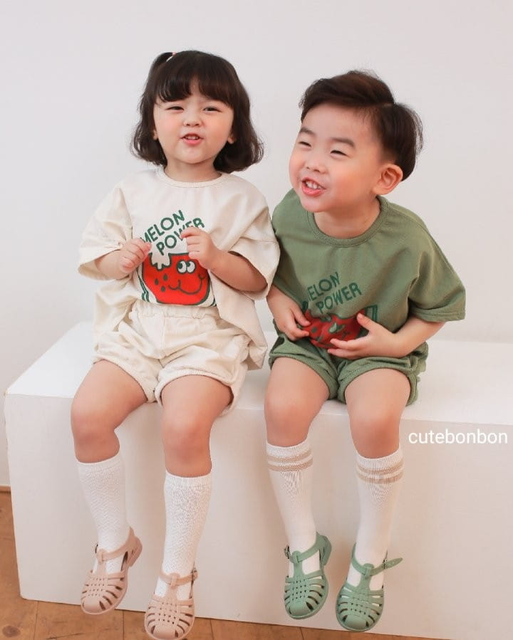 CUTEBONBON - Korean Children Fashion - #Kfashion4kids - Watermelon Top Bottom Set