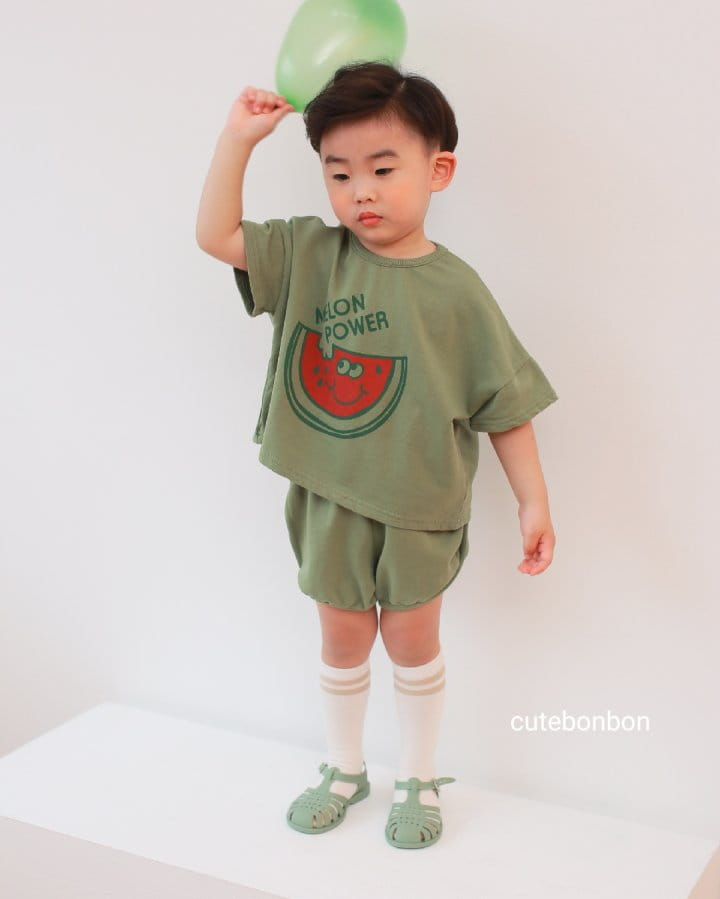 CUTEBONBON - Korean Children Fashion - #Kfashion4kids - Watermelon Top Bottom Set - 4
