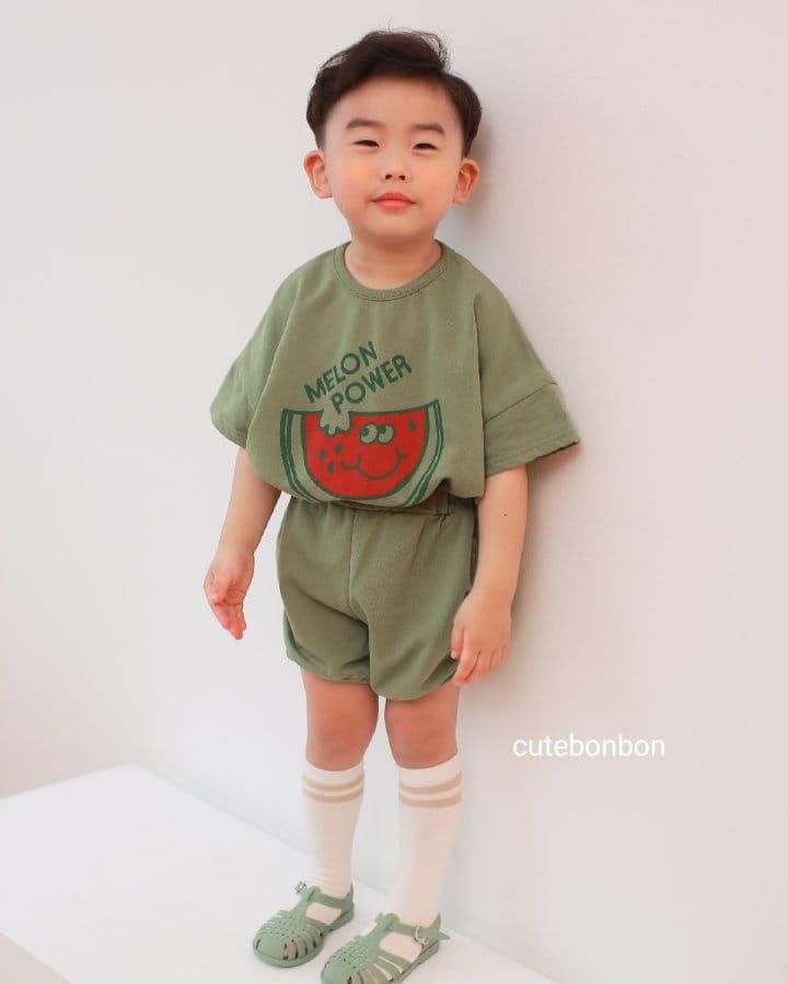 CUTEBONBON - Korean Children Fashion - #Kfashion4kids - Watermelon Top Bottom Set - 5