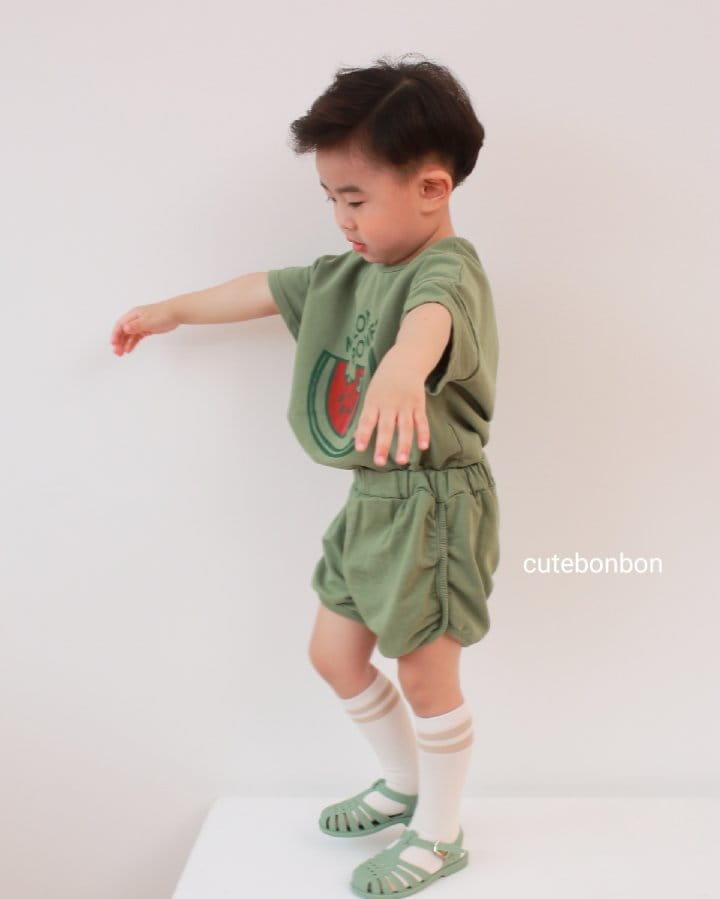 CUTEBONBON - Korean Children Fashion - #Kfashion4kids - Watermelon Top Bottom Set - 8