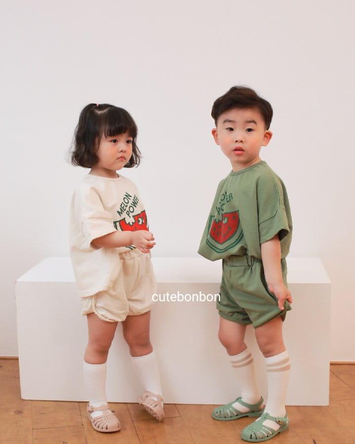 CUTEBONBON - Korean Children Fashion - #Kfashion4kids - Watermelon Top Bottom Set - 9