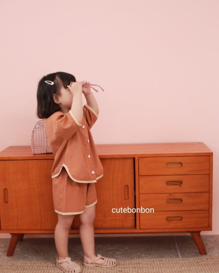 CUTEBONBON - Korean Children Fashion - #Kfashion4kids - Linen Rappa Top Bottom Set - 10