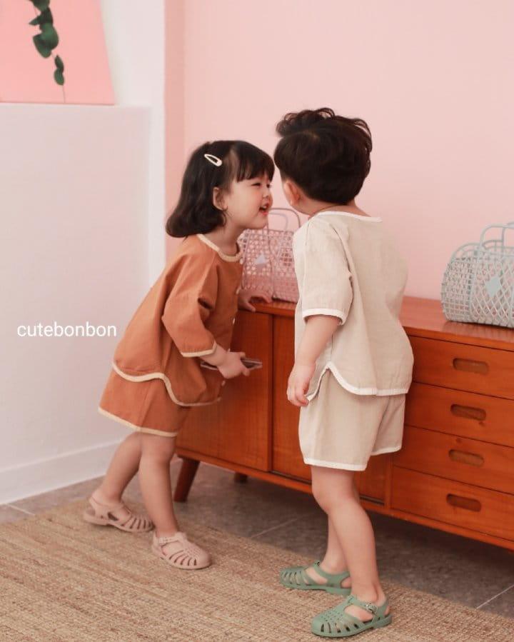 CUTEBONBON - Korean Children Fashion - #Kfashion4kids - Linen Rappa Top Bottom Set - 11