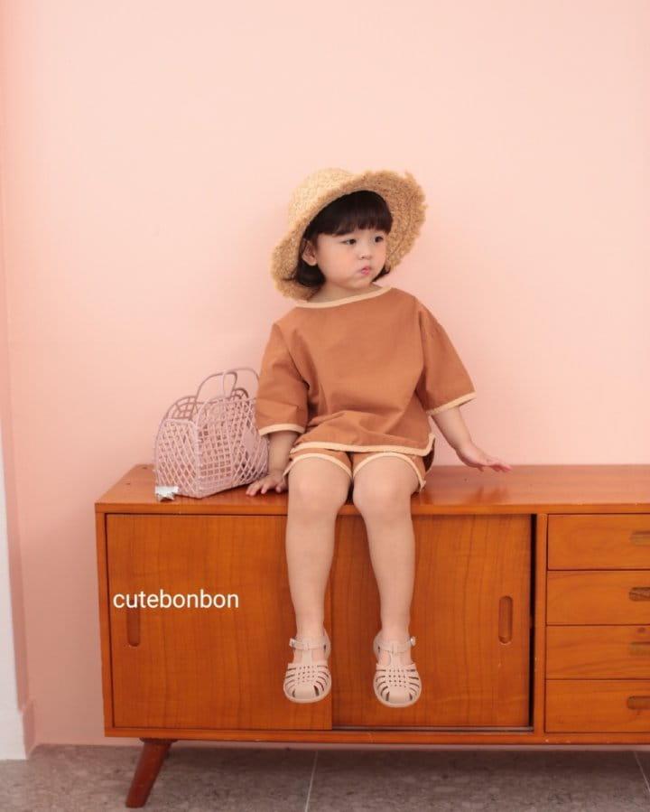 CUTEBONBON - Korean Children Fashion - #Kfashion4kids - Linen Rappa Top Bottom Set - 3