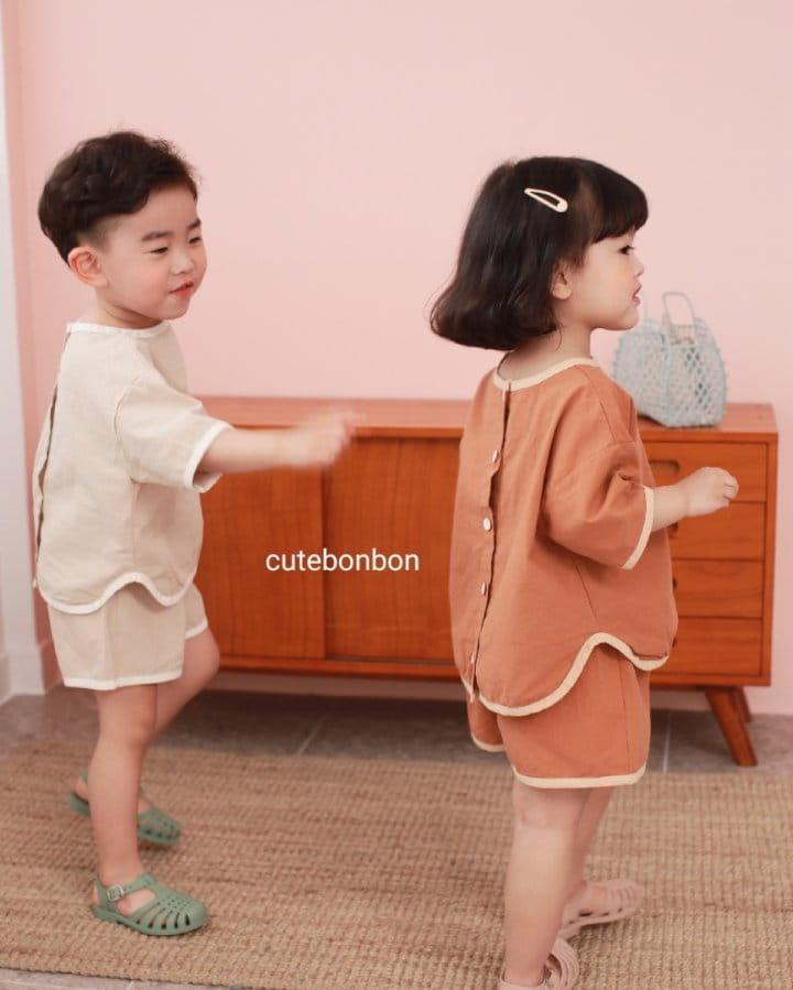 CUTEBONBON - Korean Children Fashion - #Kfashion4kids - Linen Rappa Top Bottom Set - 4