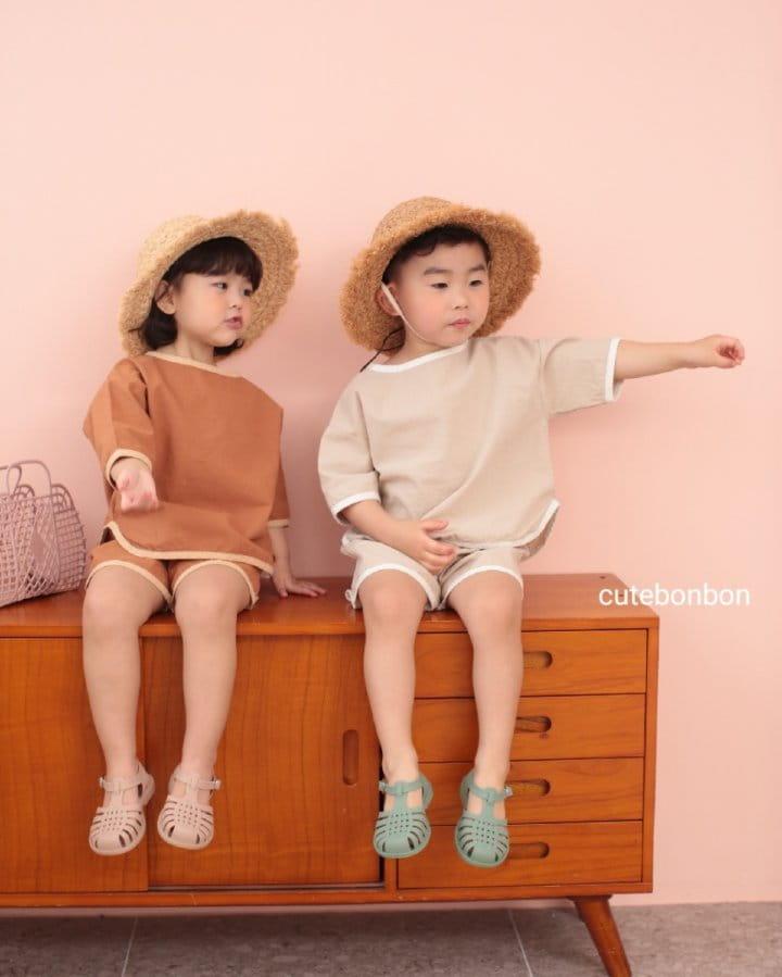 CUTEBONBON - Korean Children Fashion - #Kfashion4kids - Linen Rappa Top Bottom Set - 5