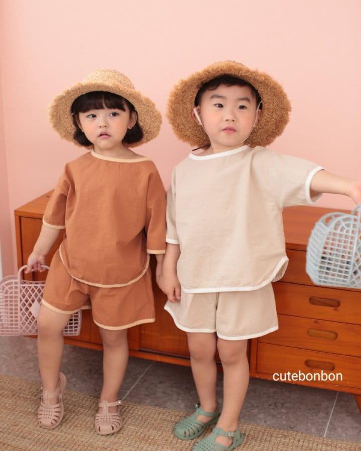 CUTEBONBON - Korean Children Fashion - #Kfashion4kids - Linen Rappa Top Bottom Set - 7