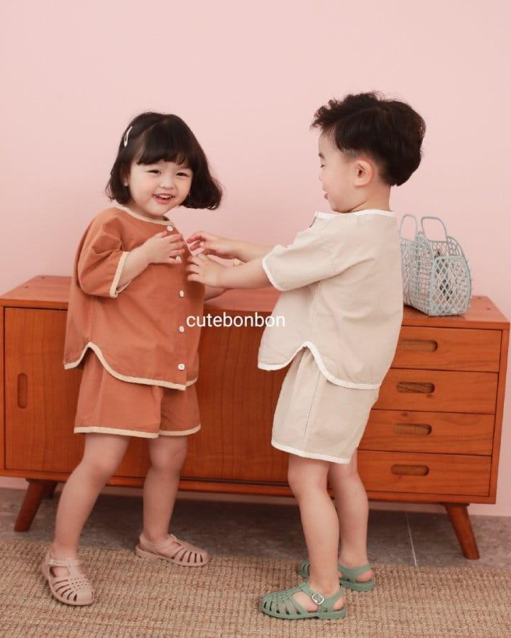 CUTEBONBON - Korean Children Fashion - #Kfashion4kids - Linen Rappa Top Bottom Set - 8