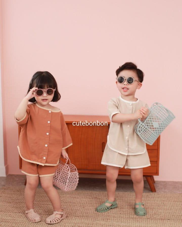 CUTEBONBON - Korean Children Fashion - #Kfashion4kids - Linen Rappa Top Bottom Set - 9