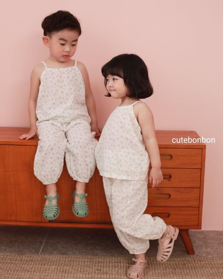 CUTEBONBON - Korean Children Fashion - #Kfashion4kids - String Top Loose Drawer Set - 12