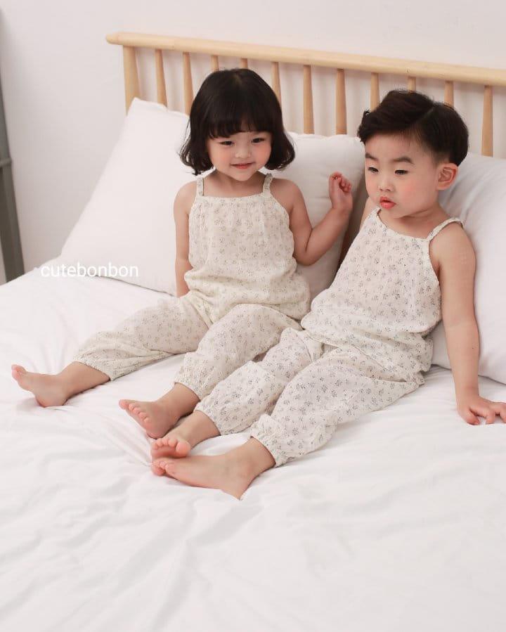CUTEBONBON - Korean Children Fashion - #Kfashion4kids - String Top Loose Drawer Set - 2