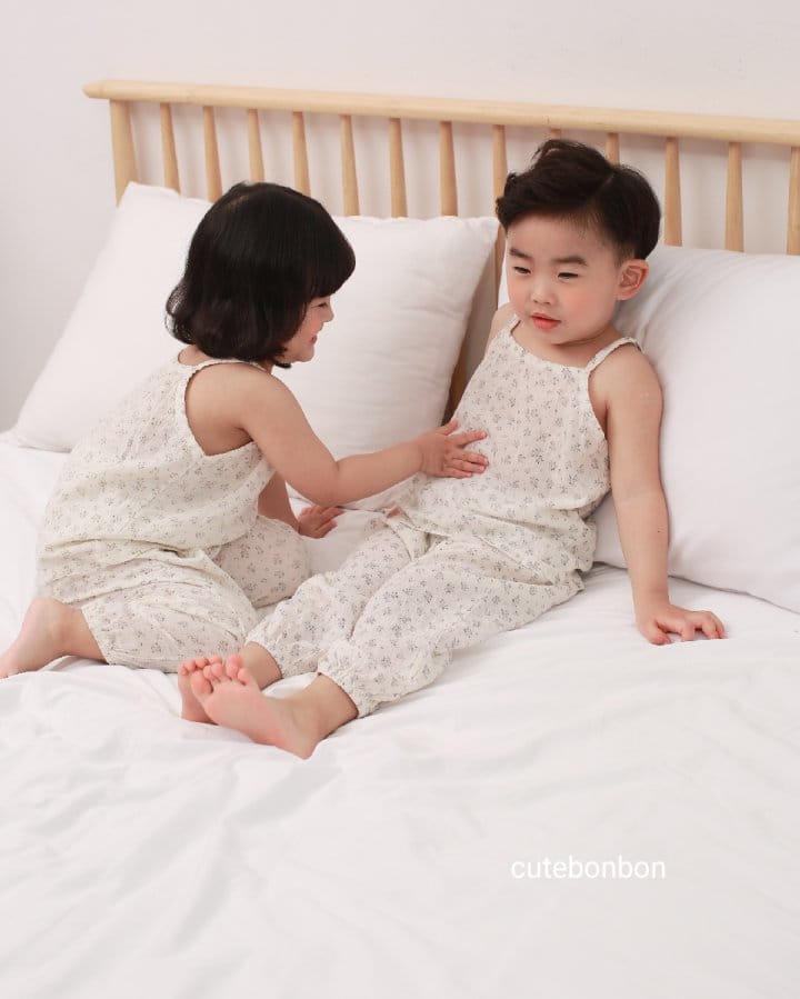 CUTEBONBON - Korean Children Fashion - #Kfashion4kids - String Top Loose Drawer Set - 3