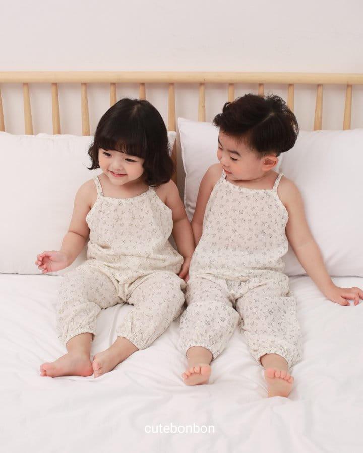 CUTEBONBON - Korean Children Fashion - #Kfashion4kids - String Top Loose Drawer Set - 4