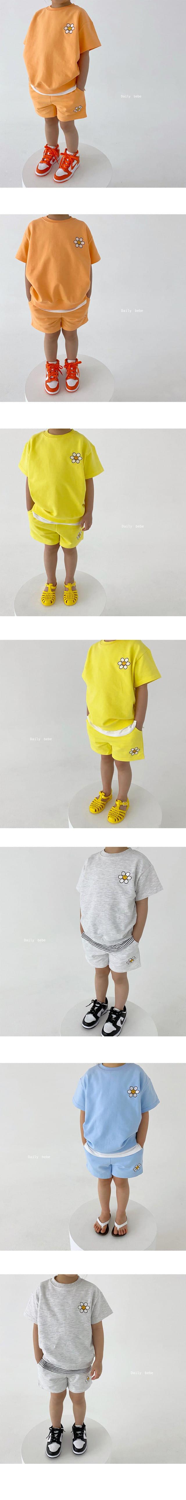DAILY BEBE - Korean Children Fashion - #Kfashion4kids - Summer Flower Top Bottom Set - 3