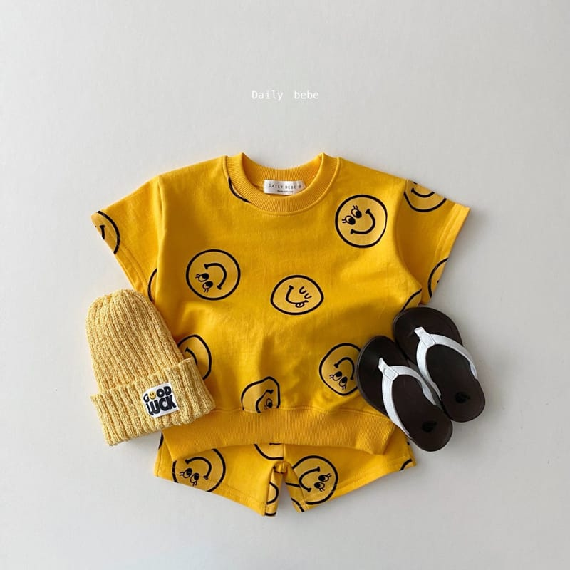 DAILY BEBE - Korean Children Fashion - #Kfashion4kids - Smile Top Bottom Set - 3