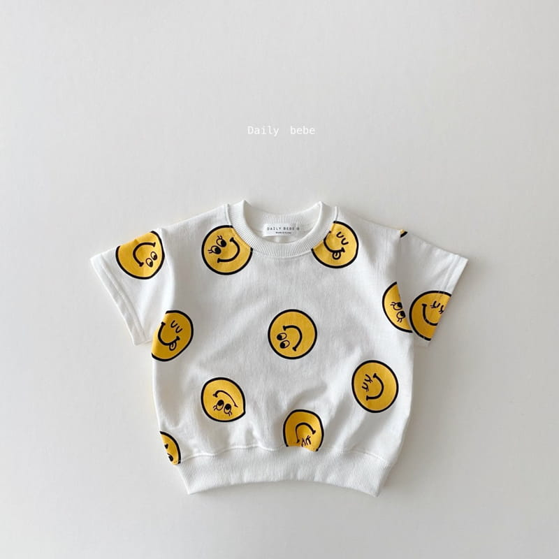 DAILY BEBE - Korean Children Fashion - #Kfashion4kids - Smile Top Bottom Set - 5