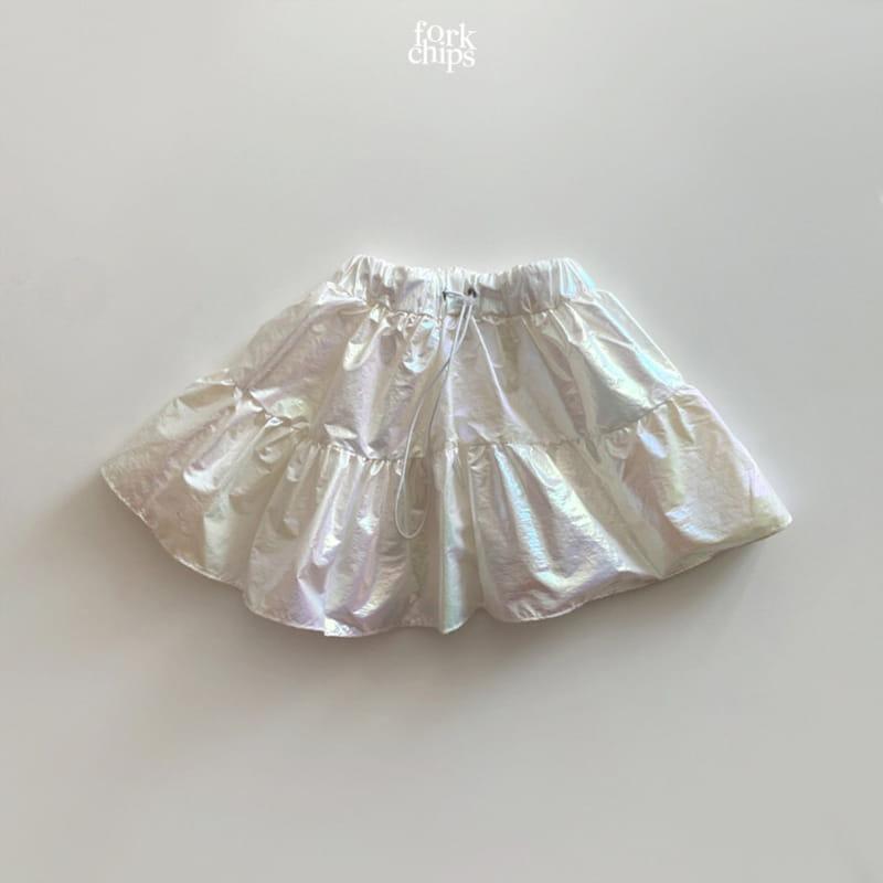 FORK CHIPS - Korean Children Fashion - #Kfashion4kids - Hologram Skirt Pants