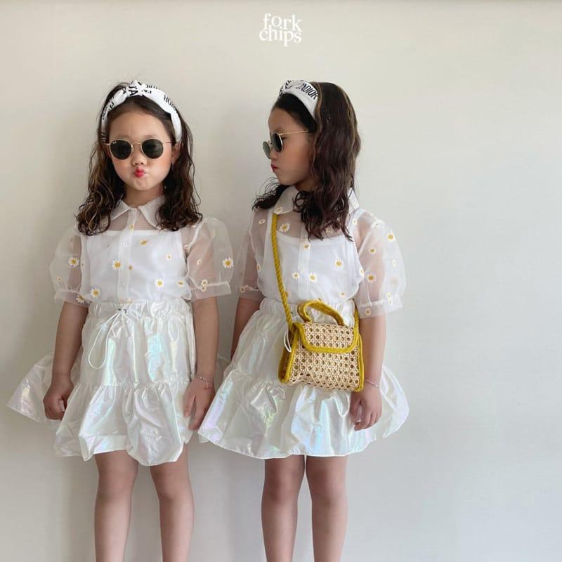 FORK CHIPS - Korean Children Fashion - #Kfashion4kids - Hologram Skirt Pants - 5