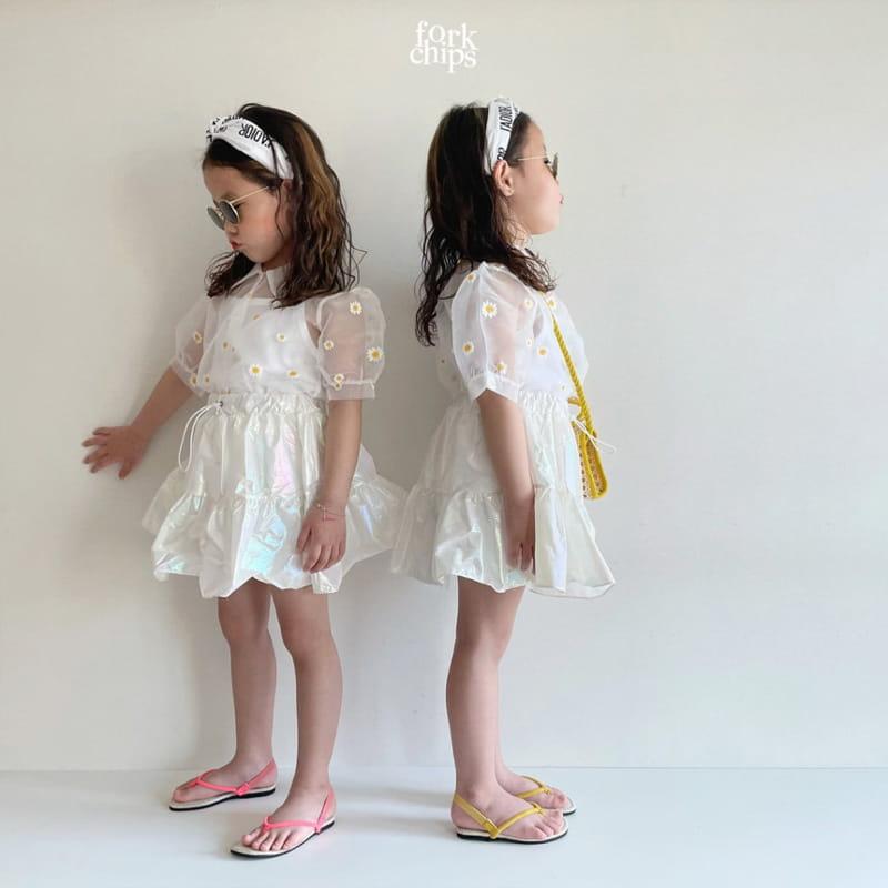 FORK CHIPS - Korean Children Fashion - #Kfashion4kids - Hologram Skirt Pants - 6