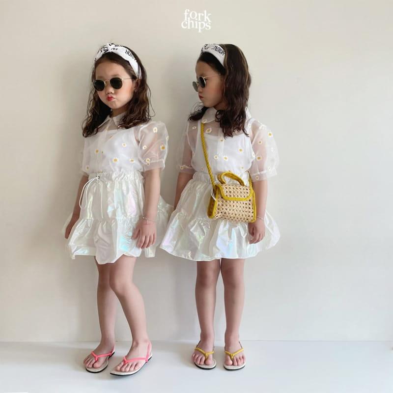 FORK CHIPS - Korean Children Fashion - #Kfashion4kids - Hologram Skirt Pants - 7