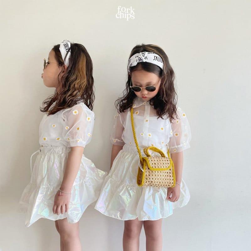 FORK CHIPS - Korean Children Fashion - #Kfashion4kids - Hologram Skirt Pants - 8