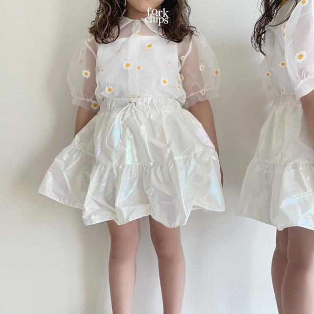 FORK CHIPS - BRAND - Korean Children Fashion - #Kfashion4kids - Hologram Skirt Pants