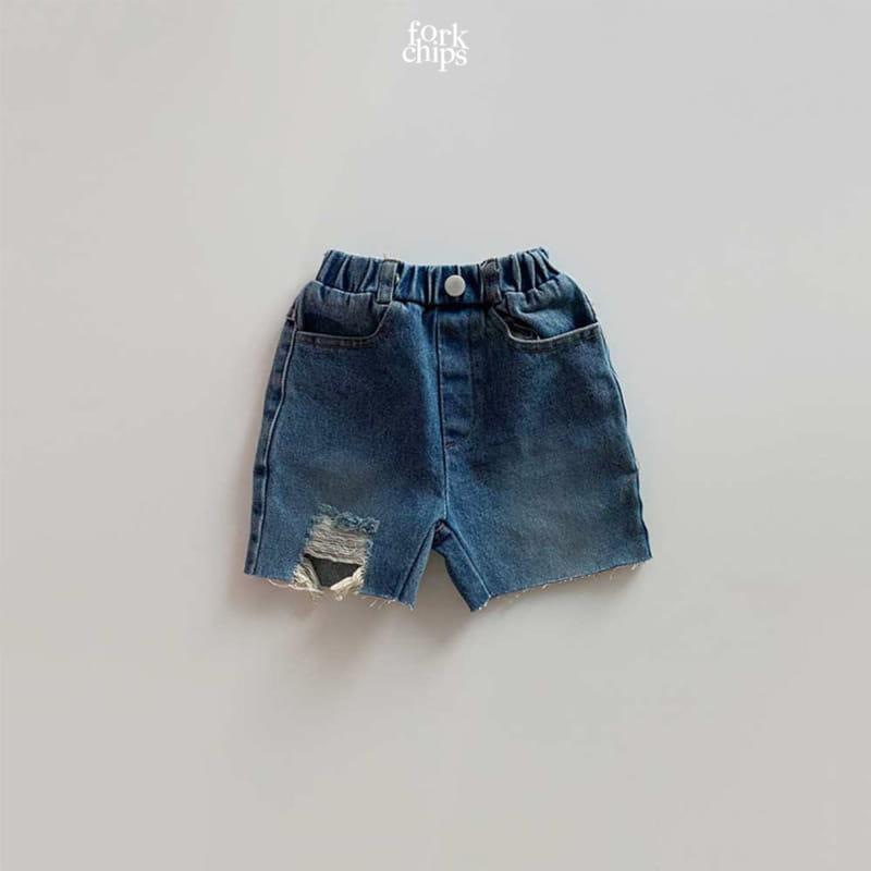 FORK CHIPS - Korean Children Fashion - #Kfashion4kids - Pony Denim Shorts
