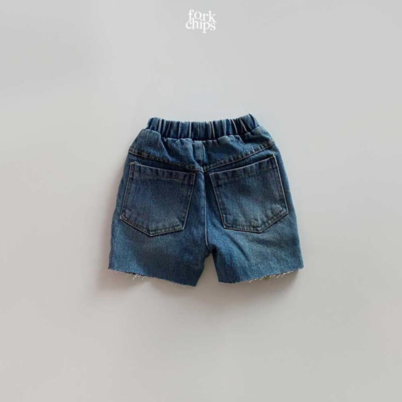 FORK CHIPS - Korean Children Fashion - #Kfashion4kids - Pony Denim Shorts - 2