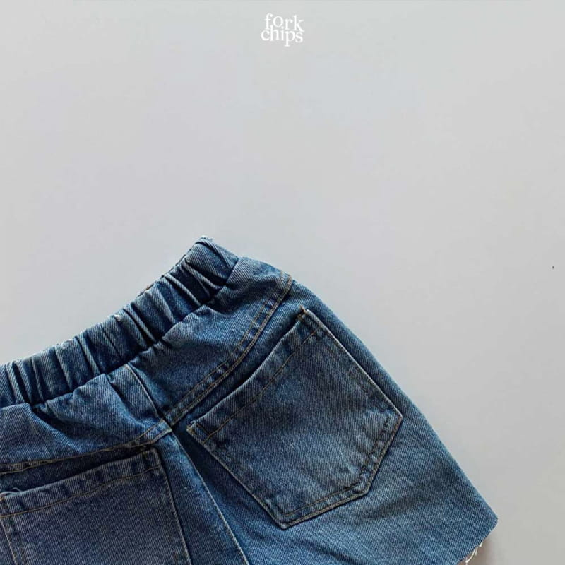 FORK CHIPS - Korean Children Fashion - #Kfashion4kids - Pony Denim Shorts - 5