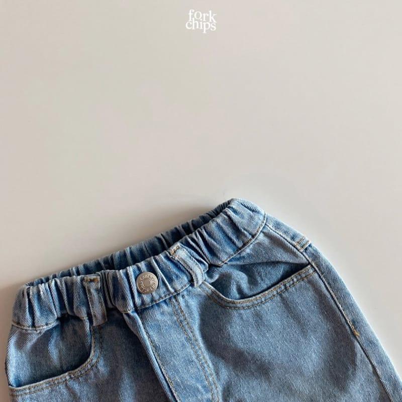 FORK CHIPS - Korean Children Fashion - #Kfashion4kids - Somrthing Denim Shorts - 4