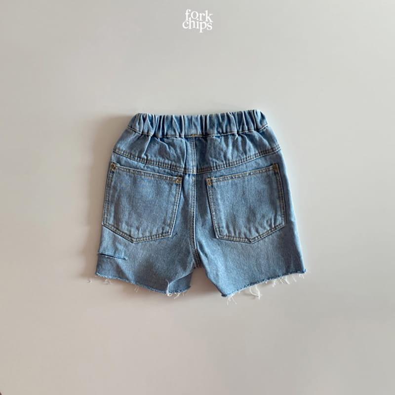 FORK CHIPS - Korean Children Fashion - #Kfashion4kids - Somrthing Denim Shorts - 5