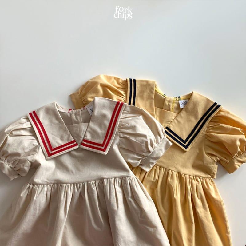 FORK CHIPS - Korean Children Fashion - #Kfashion4kids - Twin Salior One-piece