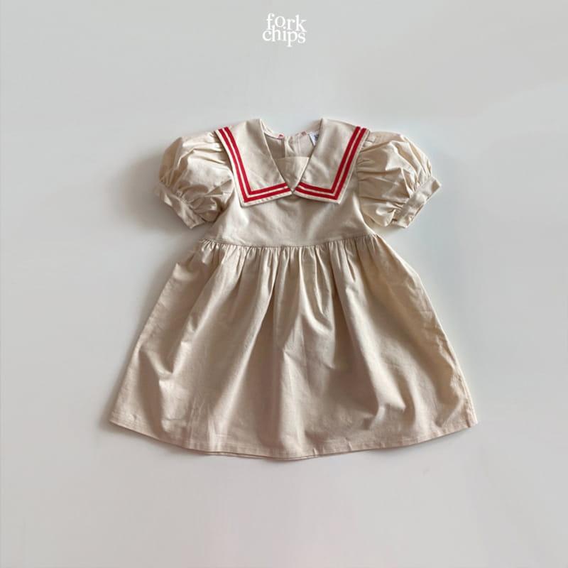 FORK CHIPS - Korean Children Fashion - #Kfashion4kids - Twin Salior One-piece - 2