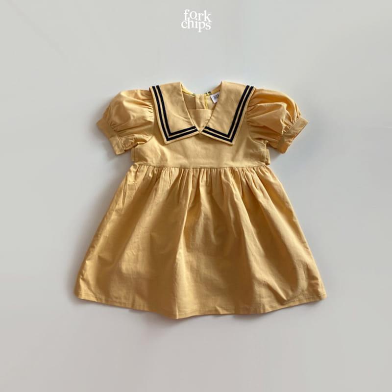 FORK CHIPS - Korean Children Fashion - #Kfashion4kids - Twin Salior One-piece - 3