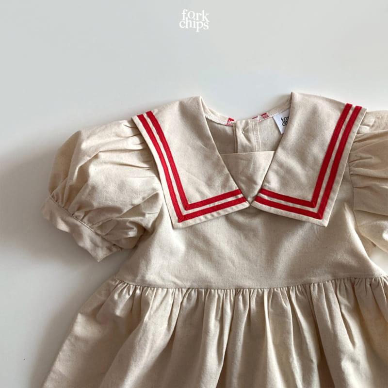 FORK CHIPS - Korean Children Fashion - #Kfashion4kids - Twin Salior One-piece - 4