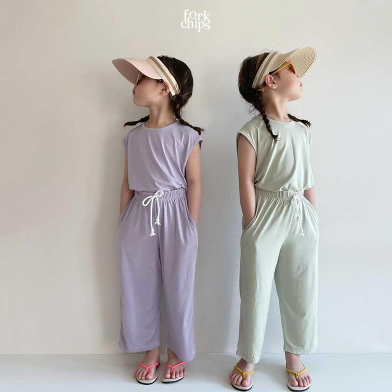 FORK CHIPS - Korean Children Fashion - #Kfashion4kids - Softly Top Bottom Set - 11